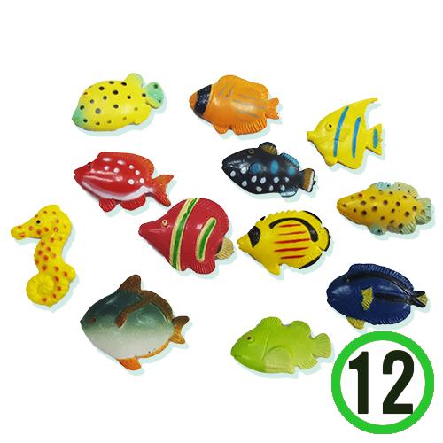 미니어쳐 물고기3호*열대어혼합*20x20mm(12개입) F-07-202