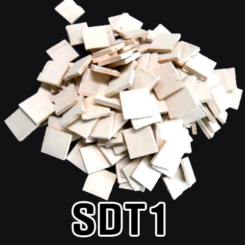 도자기타일SDT1(흰색타일)*12x12x2mm*(100개입)   EX-06