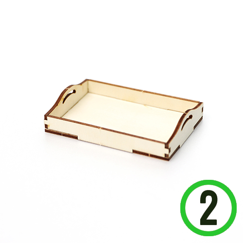 미니어쳐 *DIY 직사각 쟁반 (2개입) H-02-211