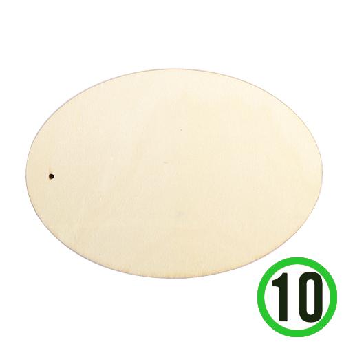 원목타원 꽂이판 8.5x12cm (10개입) S-07-201