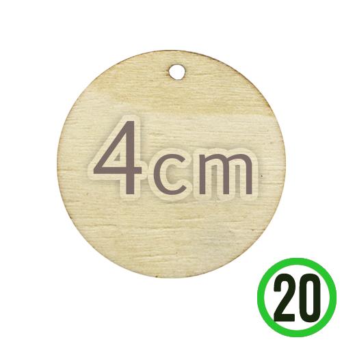 원목 1구멍 원형판 *4cm 두께 3mm (20개입) R-06-102