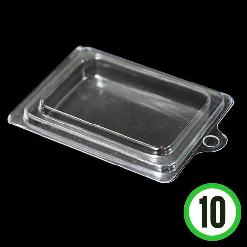 투명 사각 케이스 8.5x6.5cm (10개입)   M-01-306