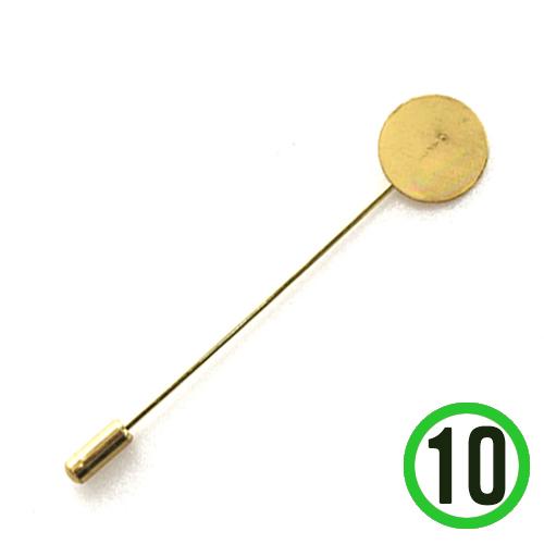 부토니에 핀 *금색* 1.5x8cm (10개입)   F-04-207