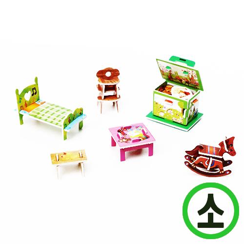 PZ-17 *3D 퍼즐* (소) 아가방 (2611 C-D)   D-03-205