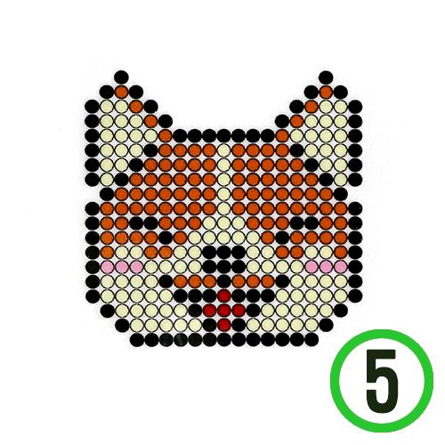 보석 십자수 접착식 *강아지* 9x9cm (5개입)  B-12-104