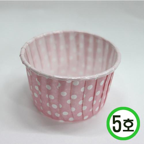 머핀컵5호*핑크물방울7(지름)*4.5(높이)10개입 O-07-308