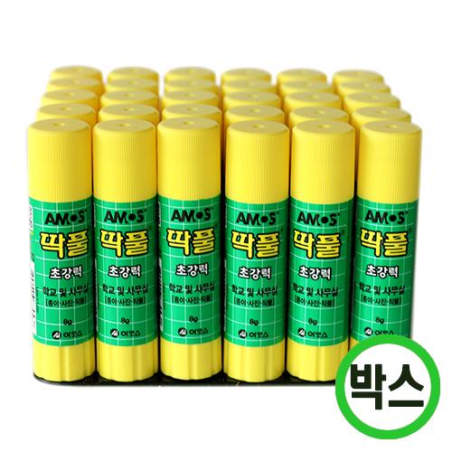 박스구매 아모스  딱풀(8g)*고체풀 (30개입)  K-03-206