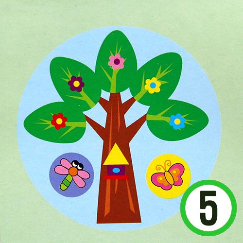종이 접시 꾸미기 *나무* 19cm (5개입)     K-10