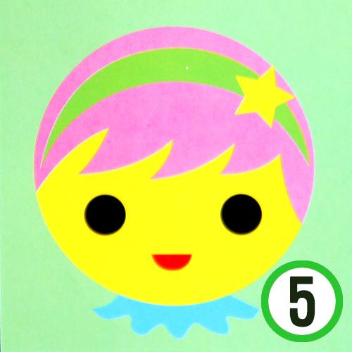 종이 접시 꾸미기 *소녀* 19cm (5개입)   K-10