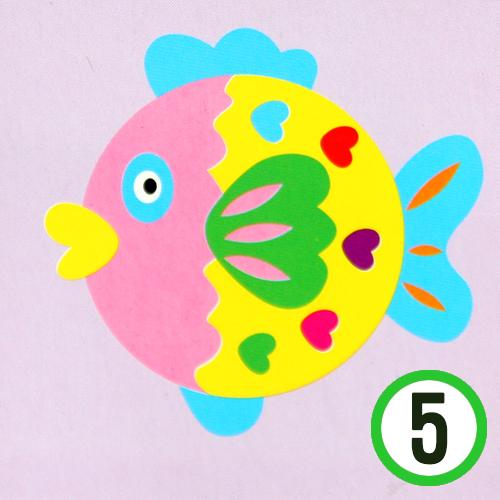 종이 접시 꾸미기 *물고기* 19cm (5개입)      K-10