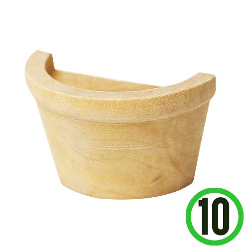 원목 반쪽화분 4.5x2.5x2.2cm (10개입)   M-05-203