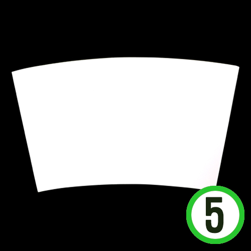 텀블러 배경판 PVC하양 25x14cm (5개입)  Y-05-207