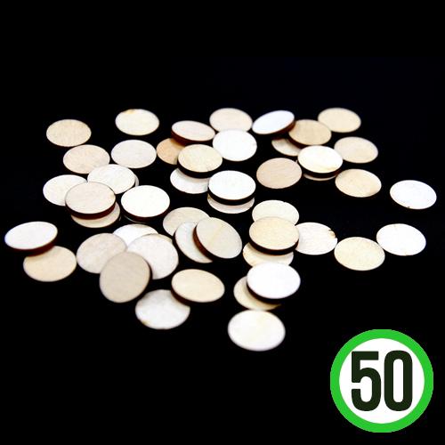 한정판매 나무조각*1호*원형*1.6cm(50개입)   W-02-202