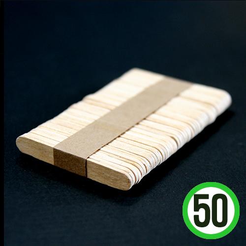 미니아이스크림 막대기 폭1x길이6.5cm(50개입)   G-09-201