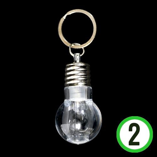 LED 전구 후레쉬*열쇠고리 2.8x5.5cm (2개입)    N-02-202