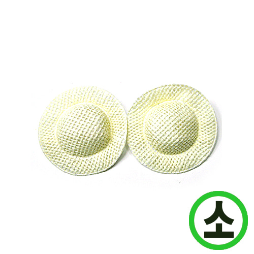 마재질 모자*소*6.5cm 10개입 N-11-307