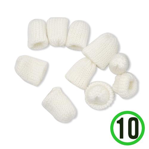 뜨개질모자 *하양* 3.5*4cm (10개입) *U-06-301