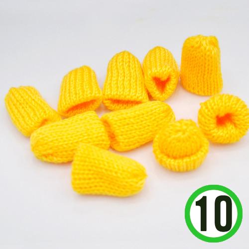 뜨개질모자 *노랑* 3.5*4cm (10개입) *U-06-103