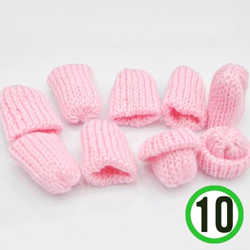 뜨개질모자 *핑크* 3.5*4cm (10개입) *U-06-306