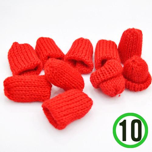 뜨개질모자 *빨강* 3.5*4cm (10개입) *U-06-303