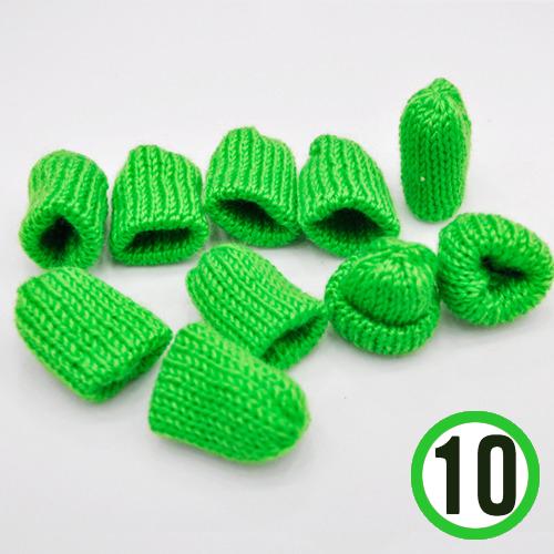 뜨개질모자 *초록* 3.5*4cm (10개입) *U-06-304