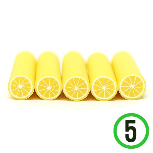 막대토핑 *레몬* 약10mm 길이 5cm (5개입)   J-04-414