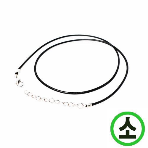 가죽목걸이줄*소*검정*42cm(10개입) A-10-116