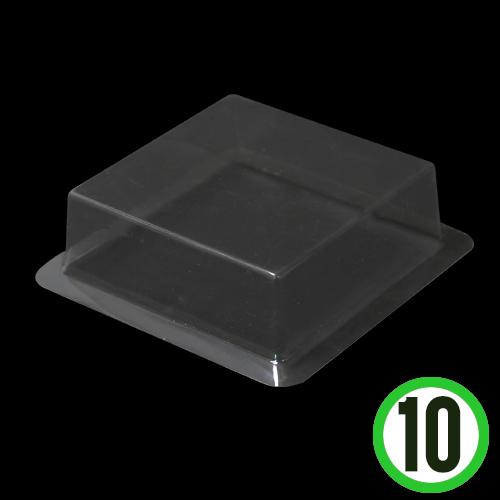 투명반구 정사각캡(10개입)*12.5x12.5cm R-07-105