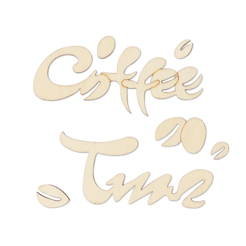 글씨 커피알갱이+coffee time(A) X-01-204