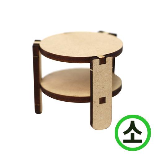 2단 원형선반 (소) 4x3.5cm (5set) (뿔난동그라미세트) W-07-02
