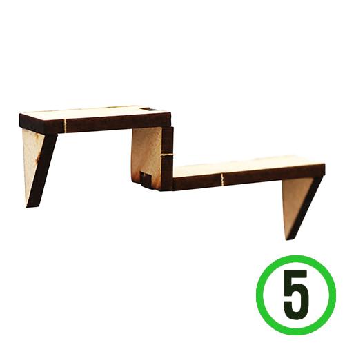 (냅스) 계단선반 7x1.8cm (5개입) Q-02-211