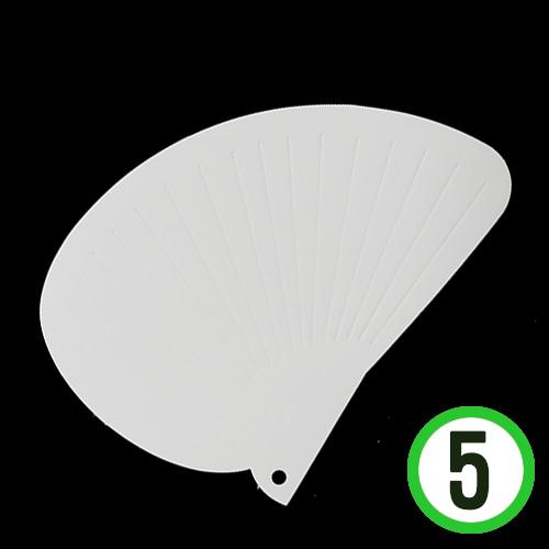 (냅스) DIY종이부채*조가비*29x21cm(5개입) Z-07-303