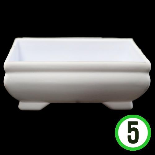 플라스틱화분*직사각*10.5x4.5cm (5개입)  Q-10-02