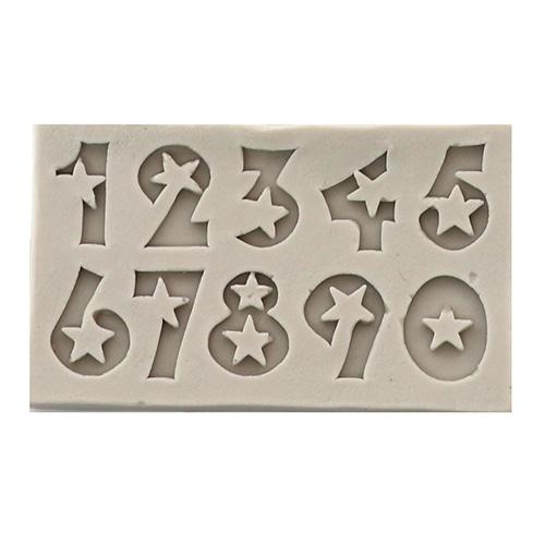 A-105 *수제몰드*10구 별&숫자*7.5x4.5cm  D-01-205