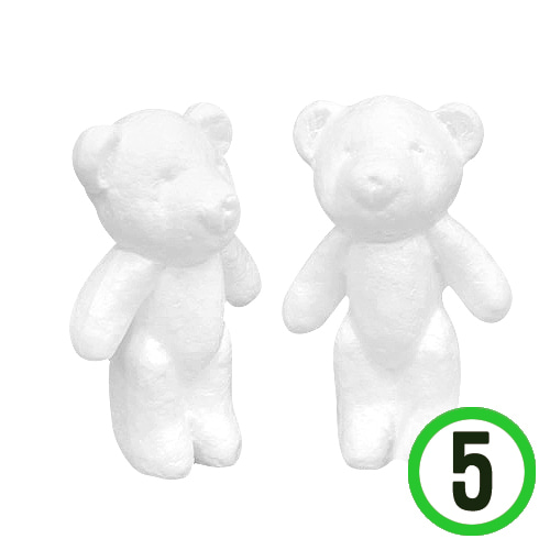 2F*테디베어 폼(5개입)8X12.5cm