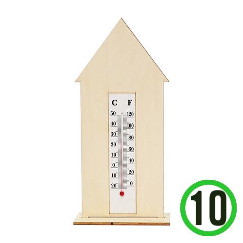 탁상 하우스*10세트*종이 온도계*대*포함  L-05-02