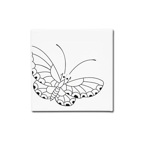 (MH) 민화 캔버스액자 *나비* 15*15cm