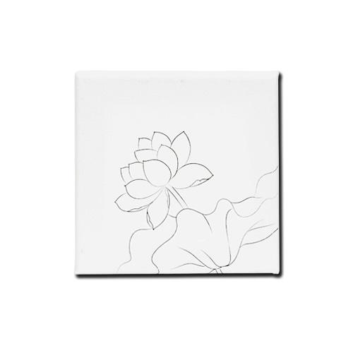(MH) 민화 캔버스액자 *연꽃* 15*15cm