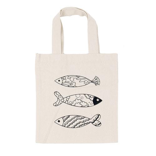 (MH) 민화 미니 에코백 *물고기* 22*25cm