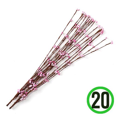 꽃봉오리 일자형*분홍 40cm (20줄입) X-08-209