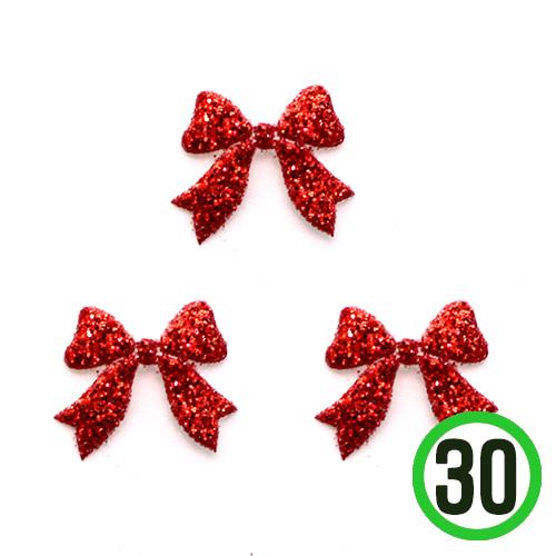 빨강 미니 리본 1.5x1.3(30개입) C-06-01