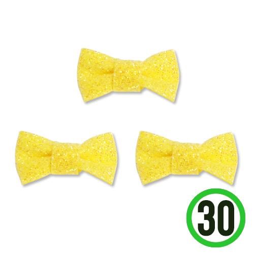 반짝이 리본*노랑*2.6x1.2cm(30개입) C-01-02
