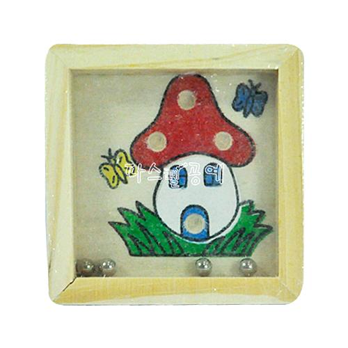 구슬게임판*버섯 8*8cm N-02-208