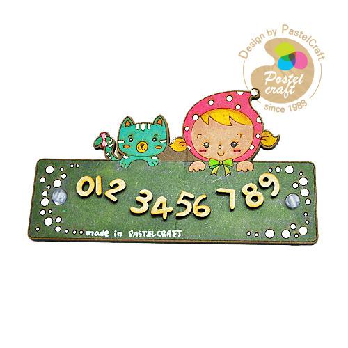 J-006 팬시소품고양이와소녀 주차판*15*9cm*큐방포함 V-03-228