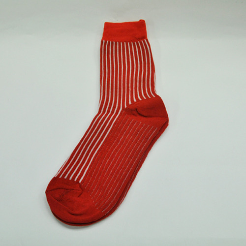 빨강+흰색줄무늬 양말 Z-09-203