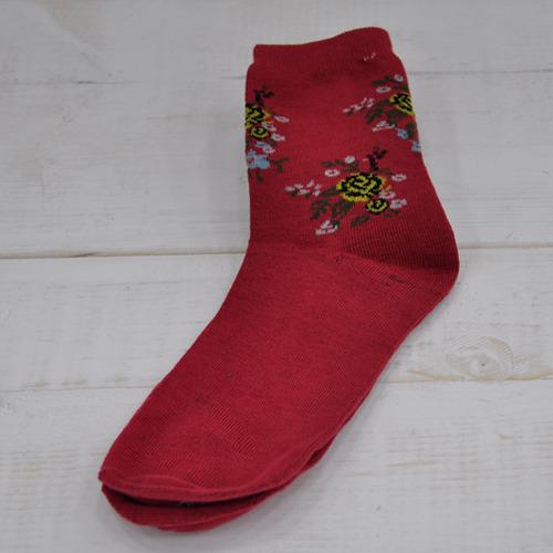 꽃다발양말 기본형 *빨강 Z-07-110
