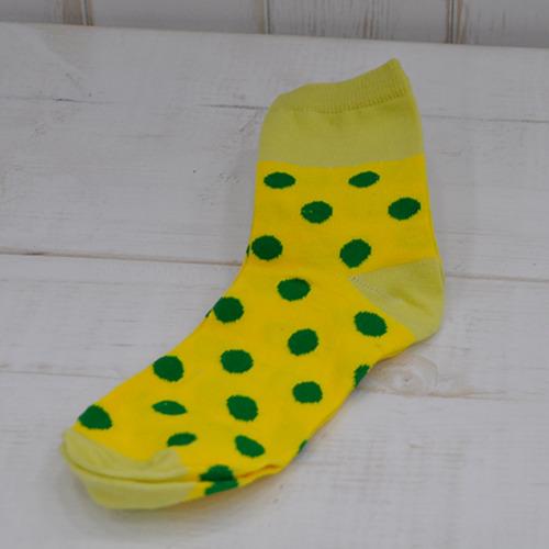 땡땡이양말 기본형*노랑+초록 Z-08-111