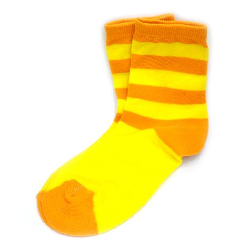 줄무늬 양말 (노랑*주황) yellow  Z-08-106