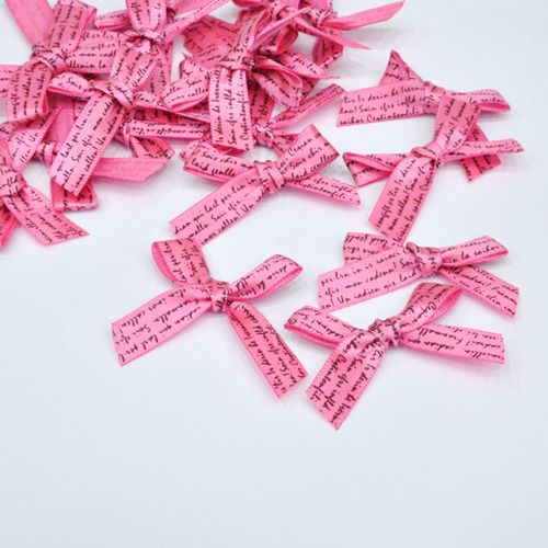 장식리본 *레터링* 핑크 (20개입) 3.5*2cm *C-04-168
